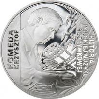 Moneta z Krzysztofem Komedą najpiękniejsza na świecie