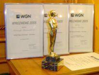 Prestiżowy Broker WGN i Wyróżnienia za rok 2005