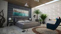 Efektowna i wygodna sypialnia