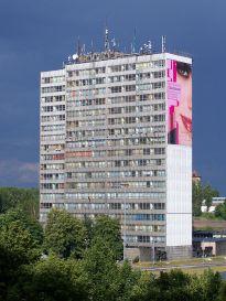 Rozbierają biurowiec DOKP w Katowicach