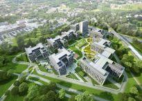 Biurowiec Business Garden Wrocław wychodzi z ziemi
