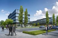 Rośnie kompleks biurowy Neopark w Warszawie
