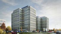 Wiecha na biurowcu Symetris Business Park