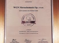 Grupa WGN z godłem Najwyższa Jakość QI 2017